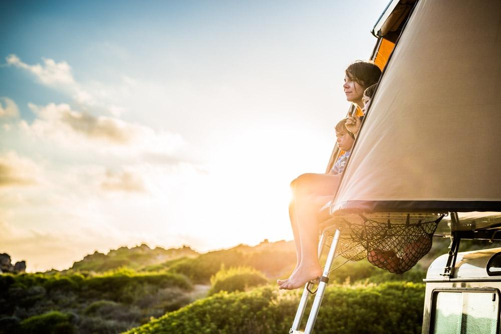 Naitup, camping, bivouac, tente de toit, soleil