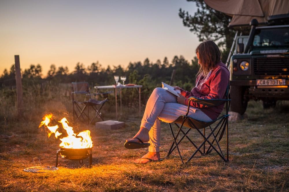 Camping, feu, Naitup, rooftent