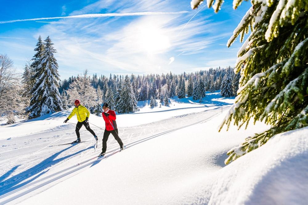 jura, Les Rousses, ski de fond, neige, hiver